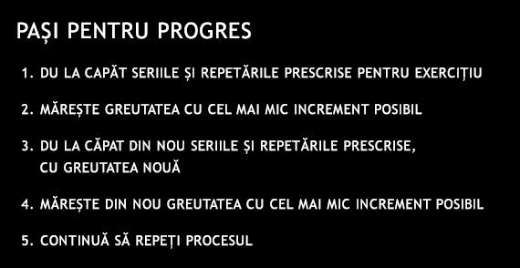 Pasi pentru progres