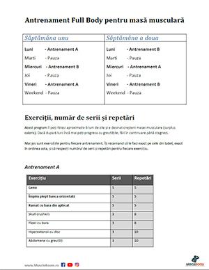 PDF Program de masa musculara pentru incepatori
